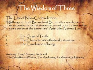 The Wisdom of Three Law of Non-Contradiction