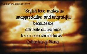 Selfish love vs selfless love
